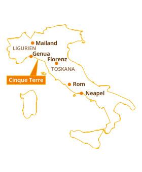 Karte Italien Regionen.Die 5 Dörfer Cinque Terre Reisetipps Mehr Für Ihren Italien